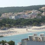 View of Santa Ponsa Beach from Apartment Balcony