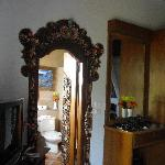 intricate door frame in suite