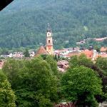 Blick vom Balkon auf Mittenwald