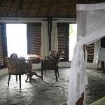 Inside our hut
