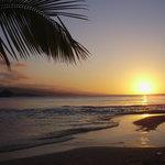 sunset at san souci