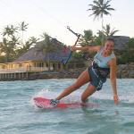Kitingsurfing at The Rarotongan Beach Resort and Spa