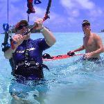 Learning water start with LEK Rarotonga