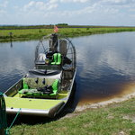 The airboat reached speeds of around 70mph!