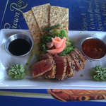 seared ahi tuna at the Surf Club Fort Myers Beach