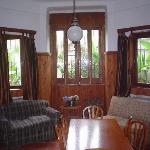 The living and dining room in a nice social space