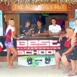 The LEK headquaters, right on Aitutaki Lagoon!