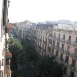Vista desde la ventana de la sala comum (dónde está la máquina de café)