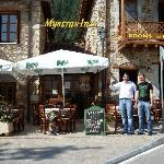 Yiannis & Thanasis in front of their Inn