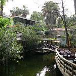 The beautiful riverside restaurant area
