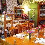 The beautiful dining room at Country Victorian.