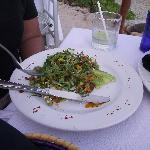 my friend's salad.. all i can remember was that he said it was made from cactus!