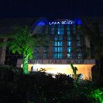 Lara Beach Hotel at night