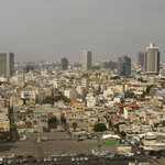 view of Tel Aviv from the hotel room