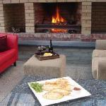 relax by an open fire