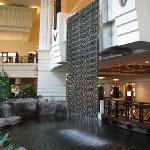 Waterfall inside the hotel