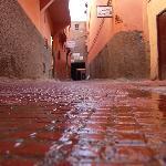 Rua junto ao Hotel