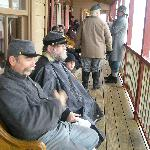 Civil War Reenacters in the Old Western Town
