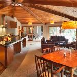 River Birches' open kitchen area and living room make guest feel