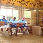 Botaira Band singing to us at meal time....