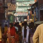 Joney's is a true hole-in-the wall along the main drag in Taj Ganj