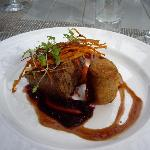 Filet mignon with an oxtail croquette