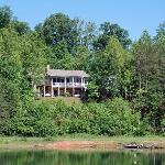 This is the Bed and Breakfast at Swan Lake from the other side of the lake.
