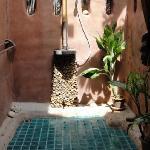 Outside bathroom in Honeymoon villa. Just gorgeous.