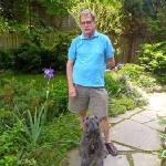 Bruce & Rorie in the front garden