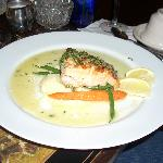 Lemon Parsley Crusted Salmon with Spring Vegetables