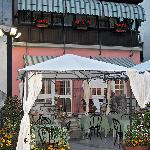 The restaurant at dusk.