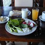 petit-déjeuner sur la terrasse à Tyre