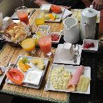 Fresh fruit breakfast at Hotel Casa do Amarlelindo - a great way to start each day!