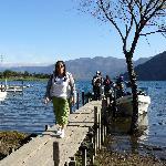 enjoying the lake and its beauty