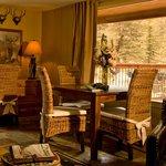 Cozy riverside cabins.