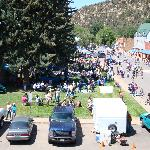 View from hotel of Escalante Days festival