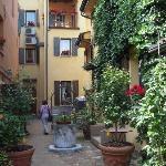 Hotel garden courtyard