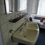 Sink area in our room