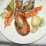 Mixed fish and sea food in the Gourmet Restaurant