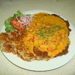 Schweizer Roesti with Paprika Creme Schnitzel