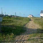 Walking path to the beach