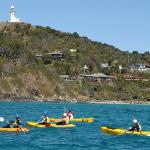 us kayaking in the bay