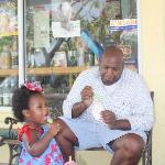 Eating Icecream with Daddy!