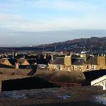 Looking over to Corstorphine Hill (Zoo) and Murrayfield from the roof terrace