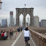 Cycling the Brooklyn Bridge
