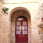 Front door of Ta' Andrea