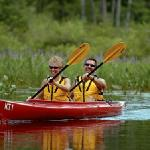 Kayaks and canoes are always complimentary for guests to use and the best way to explore the cov