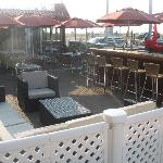 The outside bar at Harry's is one of the largest in Cape May!