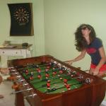 Foosball table and Darts