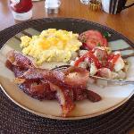 Western breakfast.